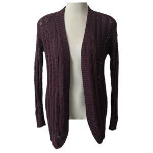 American Eagle Outfitters Knit Cardigan Purple S